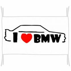 Флаг I love BMW