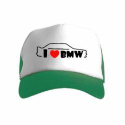 Детская кепка-тракер I love BMW