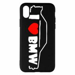 Чехол для iPhone X/Xs I love BMW