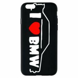 Чехол для iPhone 6/6S I love BMW