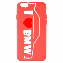 Чехол для iPhone 6 Plus/6S Plus I love BMW