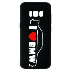 Чехол для Samsung S8 I love BMW