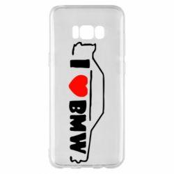 Чехол для Samsung S8+ I love BMW