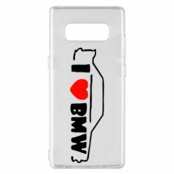 Чехол для Samsung Note 8 I love BMW