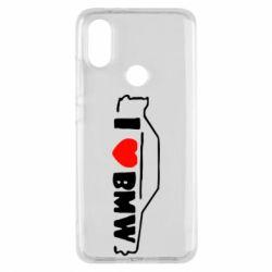 Чехол для Xiaomi Mi A2 I love BMW
