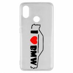 Чехол для Xiaomi Mi8 I love BMW