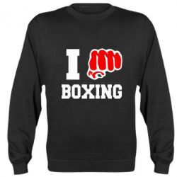 Реглан (свитшот) I love boxing - FatLine