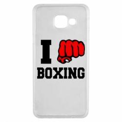 Чехол для Samsung A3 2016 I love boxing