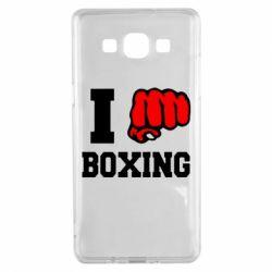Чехол для Samsung A5 2015 I love boxing