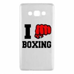 Чехол для Samsung A7 2015 I love boxing