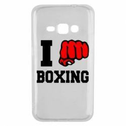 Чехол для Samsung J1 2016 I love boxing