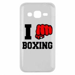 Чехол для Samsung J2 2015 I love boxing