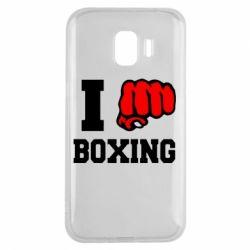 Чехол для Samsung J2 2018 I love boxing