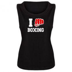 Женская майка I love boxing - FatLine