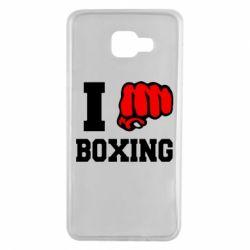 Чехол для Samsung A7 2016 I love boxing