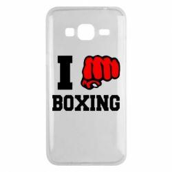 Чехол для Samsung J3 2016 I love boxing