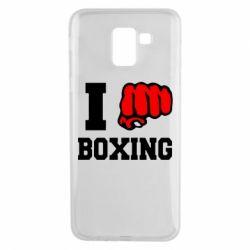 Чехол для Samsung J6 I love boxing