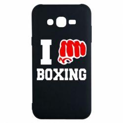 Чехол для Samsung J7 2015 I love boxing