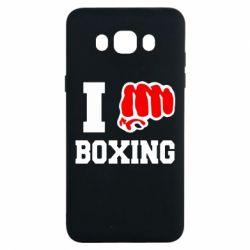 Чехол для Samsung J7 2016 I love boxing