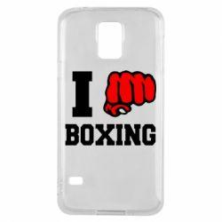 Чехол для Samsung S5 I love boxing