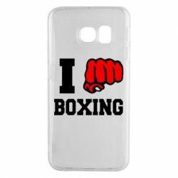 Чехол для Samsung S6 EDGE I love boxing