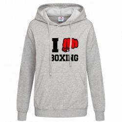 Женская толстовка I love boxing - FatLine