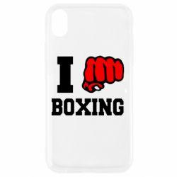 Чехол для iPhone XR I love boxing