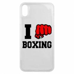 Чехол для iPhone Xs Max I love boxing