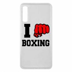 Чехол для Samsung A7 2018 I love boxing