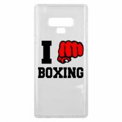 Чехол для Samsung Note 9 I love boxing