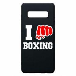 Чехол для Samsung S10+ I love boxing