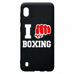 Чехол для Samsung A10 I love boxing
