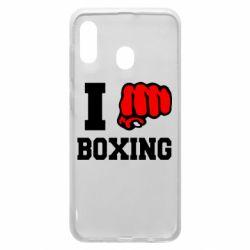 Чехол для Samsung A20 I love boxing