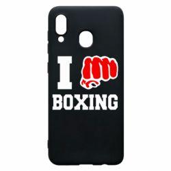 Чехол для Samsung A30 I love boxing