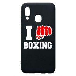 Чехол для Samsung A40 I love boxing