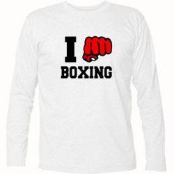 Футболка с длинным рукавом I love boxing - FatLine