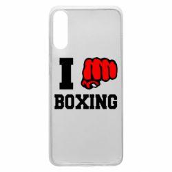 Чехол для Samsung A70 I love boxing