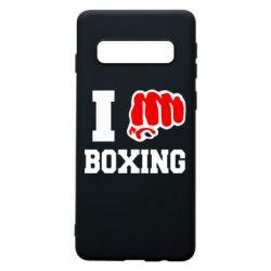 Чехол для Samsung S10 I love boxing