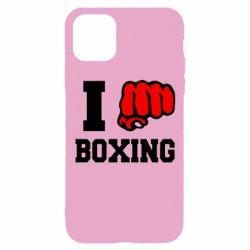 Чехол для iPhone 11 Pro I love boxing
