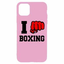 Чехол для iPhone 11 Pro Max I love boxing