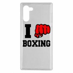 Чехол для Samsung Note 10 I love boxing