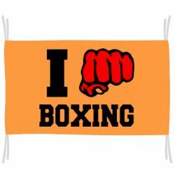 Флаг I love boxing