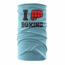 Бандана-труба I love boxing