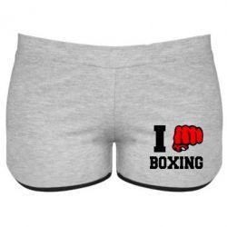 Женские шорты I love boxing - FatLine