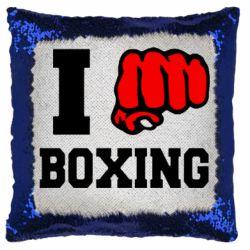 Подушка-хамелеон I love boxing