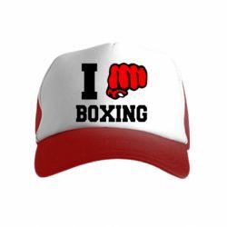 Детская кепка-тракер I love boxing