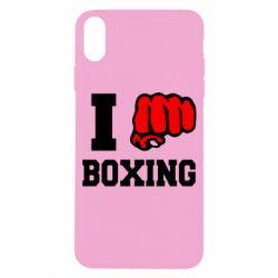 Чехол для iPhone X/Xs I love boxing