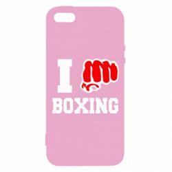 Чехол для iPhone5/5S/SE I love boxing