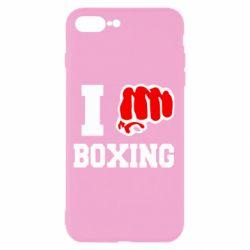 Чехол для iPhone 7 Plus I love boxing