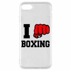 Чехол для iPhone 8 I love boxing
